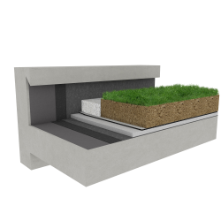 Green roof Canopia Expert multi use Silver concrete
