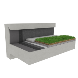 Green roof Canopia Naturapente stormwater retention multi use Silver concrete