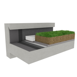 Green roof Canopia Expert stormwater retention multi use Silver concrete