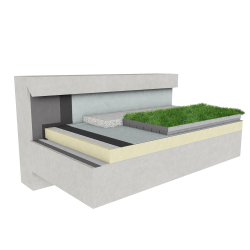 Green roof Canopia Jardibac insulation multi use concrete mountain climate
