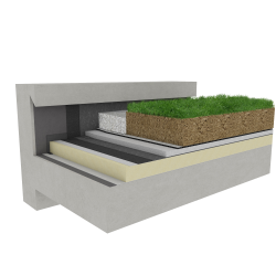 Green roof Canopia Expert insulation multi use Silver concrete mountain climate