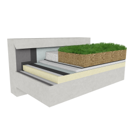 Green roof Canopia Expert insulation multi use concrete mountain climate