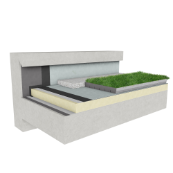 Green roof Canopia Jardibac insulation multi use concrete
