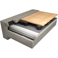 Accessible roof with paving support