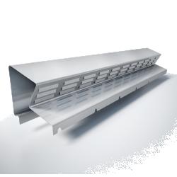 Bandeau de faitage ventilee  BFV2  Hauteur 45