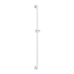 5460N Shower bar with sliding shower head holder white Nylon