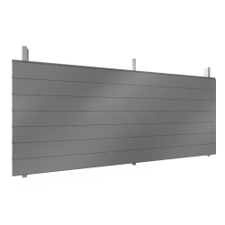 Single skin cladding with steel or aluminium sidings in horizontal pos