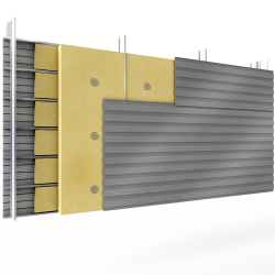 Steel 2 skins cladding H pos perforated trays spacer 2insulation beds