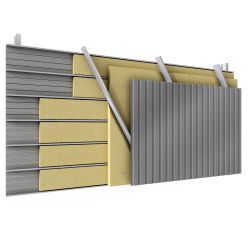 Steel 2 skins cladding V pos perfo trays diagonal spacers insulation