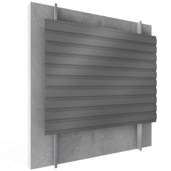Steel built up cladding horizontal position