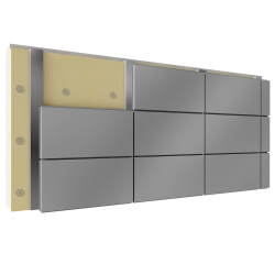Overcladding with steel or aluminium cassettes with insulation