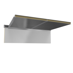 Ceiling sandwich panels 2 steel facings PUR PIR core