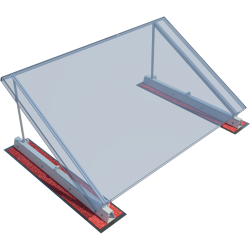 ROOF-SOLAR TILTED BITUMEN  - PV mounting system for flat roofs
