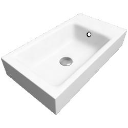 PURO Wall hung washbasin 300x550