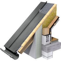 Angled Standing Seam Roof (530 mm, prePATINA graphite-grey)