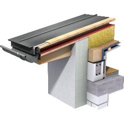Double Standing Seam Roof (530 mm, prePATINA graphite-grey)