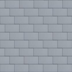Flat-Lock Tile Roof (333 mm x 600 mm, horizontal, prePATINA blue-grey)