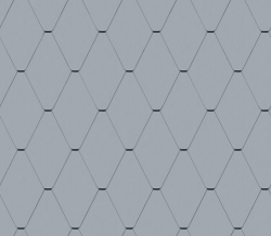 Diamond Tile Facade (228 mm x 330 mm, prePATINA blue-grey)