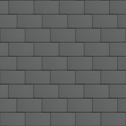Flat-Lock Tile Roof (333 mm x 600 mm, horizontal, prePATINA graphite-grey)