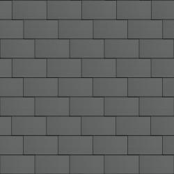 Flat-Lock Tile Roof (333 mm x 600 mm, horizontal, prePATINA graphite-grey)