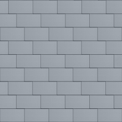 Flat-Lock Tile Roof (500 mm x 1000 mm, horizontal, prePATINA blue-grey)