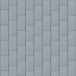 Flat-Lock Tile Roof (333 mm x 600 mm, vertical, prePATINA blue-grey)