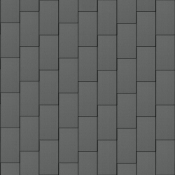 Flat-Lock Tile Roof (333 mm x 600 mm, vertical, prePATINA graphite-grey)