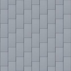 Flat-Lock Tile Roof (600 mm x 1500 mm, vertical, prePATINA blue-grey)