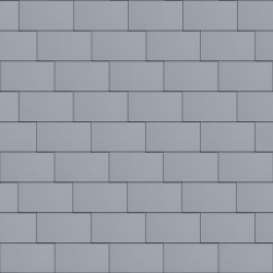 Flat-Lock Tile Facade (500 mm x 1000 mm, horizontal, prePATINA blue-grey)
