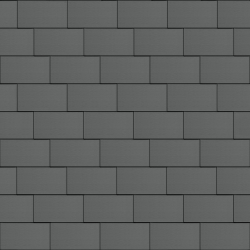 Flat-Lock Tile Facade (500 mm x 1000 mm, horizontal, prePATINA graphite-grey)