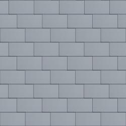 Flat-Lock Tile Facade (600 mm x 1500 mm, horizontal, prePATINA blue-grey)