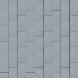 Flat-Lock Tile Facade (333 mm x 600 mm, vertical, prePATINA blue-grey)