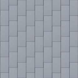 Flat-Lock Tile Facade (500 mm x 1000 mm, vertical, prePATINA blue-grey)