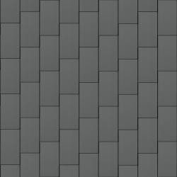 Flat-Lock Tile Facade (500 mm x 1000 mm, vertical, prePATINA graphite-grey)