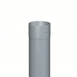 Downpipe round (size 100, length 2000 mm, prePATINA blue-grey)