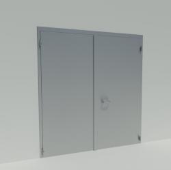 Porte battante double EI2 60