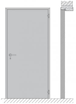 Single swing door EI1 30