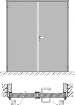 Double swing door EI1 60