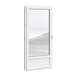 porte-fenêtre 1 vantail PVC, avec ou sans soubassement