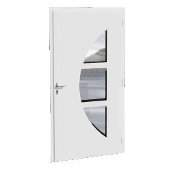porte d'entrée PVC, avec ouvrant monobloc