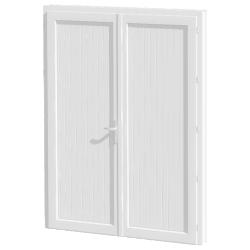 porte de service PVC 2 vantaux