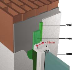 TUNNEL Passif avec largeur profile fenetre inferieur ou egale a 58mm