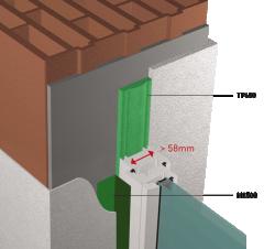 TUNNEL Passif largeur profile fenetre superieur 58mm