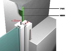 APPLIQUE EXTERIEURE RT2012 recouvrement menuiserie sur gros œuvre superieur a 25mm