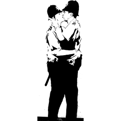 Banksy The Kiss