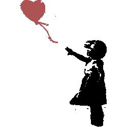Banksy Heart Baloon