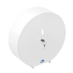 Toilet roll dispenser, White Epoxy-coated Steel, Ø 311 mm
