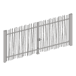 OOBAMBOO swing gate