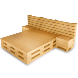 Palette Wood Bed E