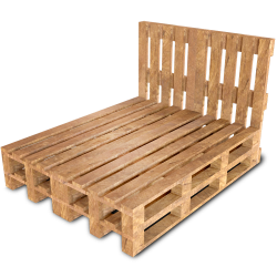 Palette Wood Bed F